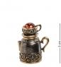 AM- 696 Наперсток  Чайник с чашкой   латунь, янтарь
