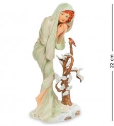 pr-MUC07 Статуэтка Девушка Зима Альфонса Мухи  Museum.Parastone