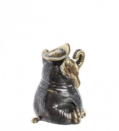 AM- 719 Фигурка Колокольчик-слон  латунь