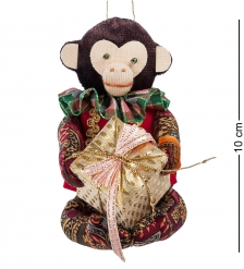 RK-742 Кукла подвесная Обезьяна с подарком