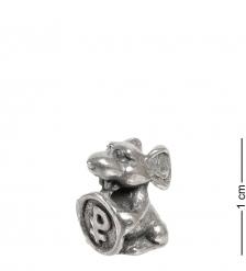 AM- 733 Фигурка кошельковая «Мышка с монетой»  олово