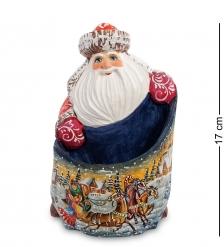 РД-43 Фигурка Дед Мороз с мешком  Резной  18см