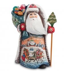 РД-50 Фигурка Дед Мороз с подарками  Резной  24см