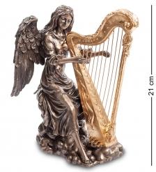WS-691/ 2 Статуэтка  Ангел, играющий на арфе
