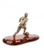 AM- 763 Фигурка  Футболист   латунь, янтарь