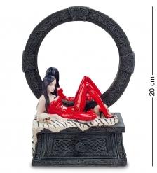 WS-797 Статуэтка-зеркало  Женщина в красном