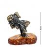AM- 772 Фигурка  Рыбка-Дорама   латунь, янтарь