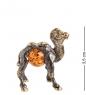 AM- 773 Фигурка  Верблюжонок   латунь, янтарь
