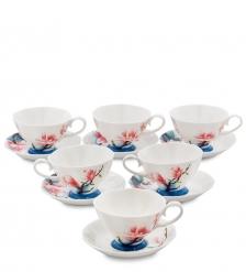 JS-03 Чайный набор на 6 перс.  Цветущая сакура   Pavone