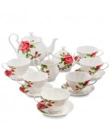 JS-07 Чайный сервиз на 6 персон  Роза Рафаэлло   Pavone