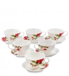 JS-09 Чайный набор на 6 перс.  Роза Рафаэлло   Pavone