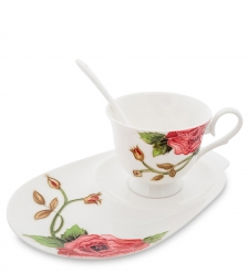 JS-11 Чайная пара  Роза Рафаэлло   Pavone