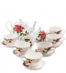 JS-13 Чайный сервиз на 6 персон  Золотая Роза Рафаэлло   Pavone
