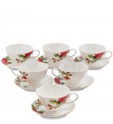 JS-15 Чайный набор на 6 перс.  Золотая Роза Рафаэлло   Pavone