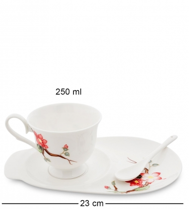 JS-29 Чайная пара Райская птица  Pavone