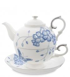 JS-33 Чайный набор  Голубая бабочка   Pavone