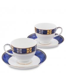 JK-199 Чайный набор на 2 перс. «Золотой Палермо»  Gold Palermo Pavone