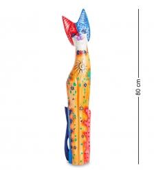 99-263 Статуэтка  Кошка  80 см  албезия, о.Бали