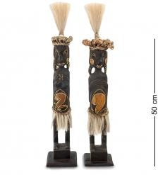 99-446 Статуэтка «Асматы»  набор из двух  албезия, о.Бали
