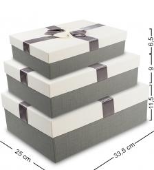 WF-12 Набор коробок из 3шт  Прямоугольник  - Вариант A