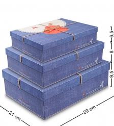 WF-21 Набор коробок из 3шт  Прямоугольник  - Вариант A