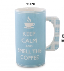 TC-28 Кружка  Кофемания   Keep Calm and Brew Coffee/TOPCHOICE