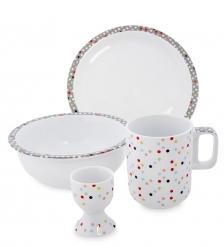 TC-12 Набор посуды для завтрака  Конфетти   Dots Good/TOPCHOICE