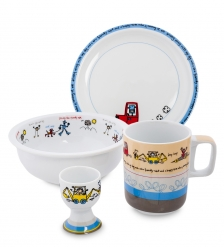 TC-13 Набор посуды для завтрака  Детские рисунки   TOPCHOICE