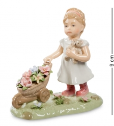 CMS-12/30 Статуэтка  Девочка с цветами   Pavone