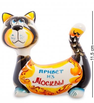 ГЛ-356 Фигурка  Кот-Пряник  цв.  Гжельский фарфор