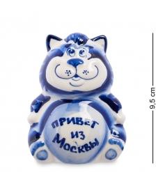 ГЛ-361 Фигурка «Кот Мультик»  Гжельский фарфор