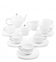 AS-48 Чайный сервиз на 6 перс.  Ордженто Бьянко   Pavone