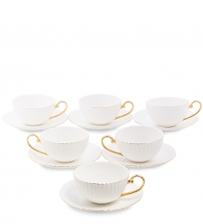 AS-76 Чайный н-р на 6 перс. «Тоскана» белый  Pavone