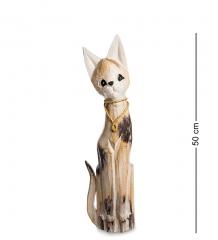 35-019 Статуэтка  Кошка  50 см  албезия, о.Бали