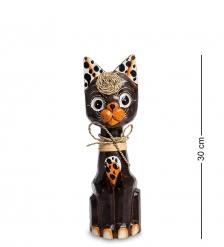 35-093 Статуэтка Кошка 30 см  албезия, о.Бали