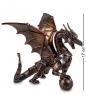 WS-296 Статуэтка в стиле Стимпанк Дракон с шаром