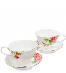 JS-14 Чайный набор на 2 перс.  Золотая Роза Рафаэлло   Pavone