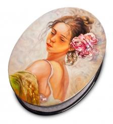 ШК-35/19 Шкатулка «Девушка с цветком» исп. Зимин А.