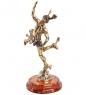 AM- 799 Фигурка  Бог торговли Меркурий   латунь, янтарь