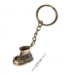 AM- 804 Брелок  Башмачок   латунь, янтарь