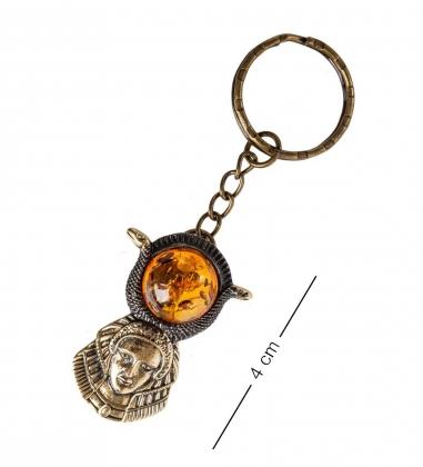 AM- 809 Брелок  Египет   латунь, янтарь