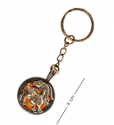 AM- 816 Брелок  Знак зодиака-Козерог   латунь, янтарь