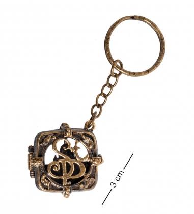 AM- 848 Брелок  Медальон Санкт-Петербург   латунь