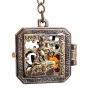 AM- 849 Брелок  Медальон СПБ   латунь, янтарь