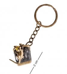 AM- 854 Брелок «Мышь хранительница»  латунь