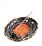 AM- 873 Брошь  Барокко   латунь, янтарь