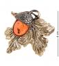 AM- 900 Брошь  Желудь   латунь, янтарь