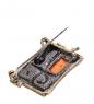 AM- 906 Брошь  Кот в окошке   латунь, янтарь