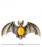 AM- 922 Брошь  Летучая мышь   латунь, янтарь