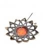 AM- 948 Брошь  Солнышко   латунь, янтарь